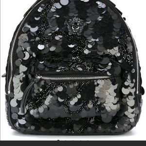 5e37f2d3b9c6 Like new Versace palazzo Medusa head backpack